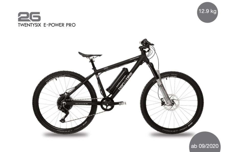 2020/2021 TwentySix E-Power Pro 13,1 kg inkl. Pedale