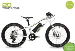 2020/2021 Twenty E-Power 10,3 kg inkl. Pedale